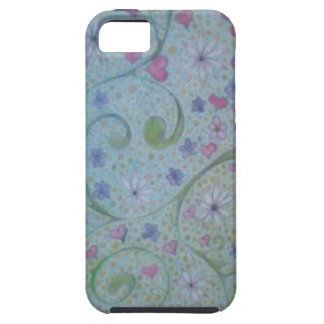 floral magic of love and creation sketch iPhone 5 cover