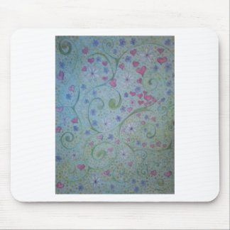 floral magic of love and creation sketch mouse pad