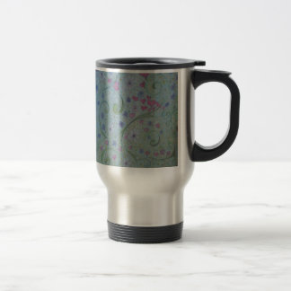 floral magic of love and creation sketch stainless steel travel mug