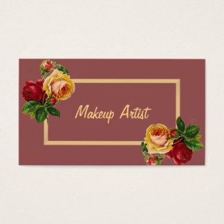 Floral Makeup Artist Vintage Beauty Salon