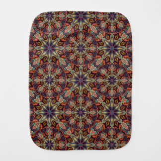 Floral mandala abstract pattern design burp cloth