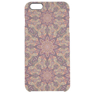 Floral mandala abstract pattern design clear iPhone 6 plus case