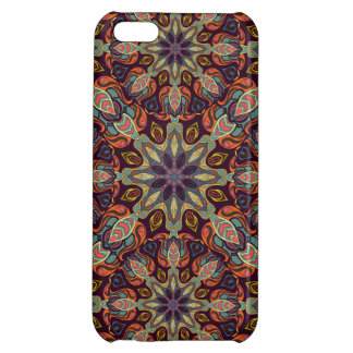 Floral mandala abstract pattern design iPhone 5C cases