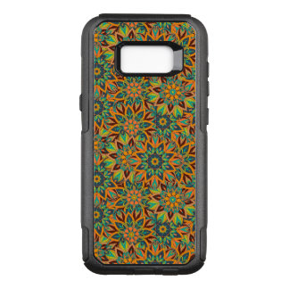 Floral mandala abstract pattern design OtterBox commuter samsung galaxy s8+ case