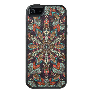 Floral mandala abstract pattern design OtterBox iPhone 5/5s/SE case