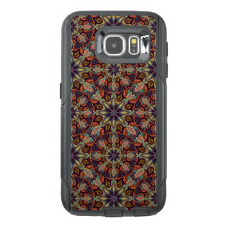 Floral mandala abstract pattern design OtterBox samsung galaxy s6 case