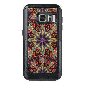 Floral mandala abstract pattern design OtterBox samsung galaxy s7 case