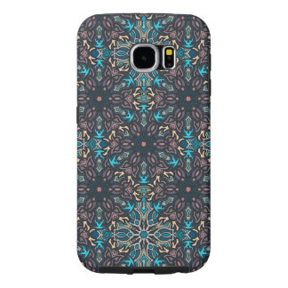 Floral mandala abstract pattern design samsung galaxy s6 cases