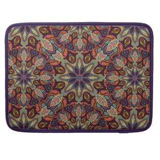 Floral mandala abstract pattern design sleeve for MacBook pro
