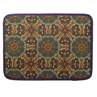 Floral mandala abstract pattern design sleeves for MacBook pro