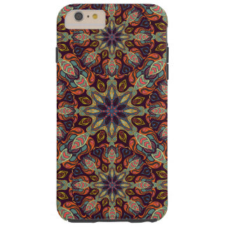 Floral mandala abstract pattern design tough iPhone 6 plus case