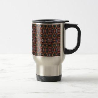 Floral mandala abstract pattern design travel mug