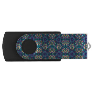 Floral mandala abstract pattern design USB flash drive