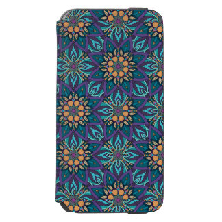 Floral mandala abstract pattern incipio watson™ iPhone 6 wallet case