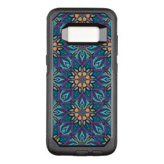 Floral mandala abstract pattern OtterBox commuter samsung galaxy s8 case