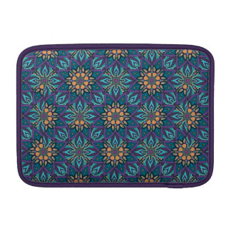 Floral mandala abstract pattern sleeve for MacBook air