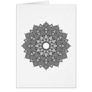 Floral Mandala Adult Coloring Card