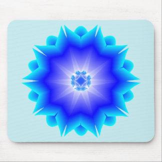 Floral Mandala blue Mousepad