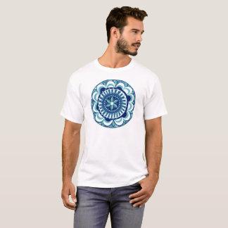 Floral Mandala in Blue T-Shirt