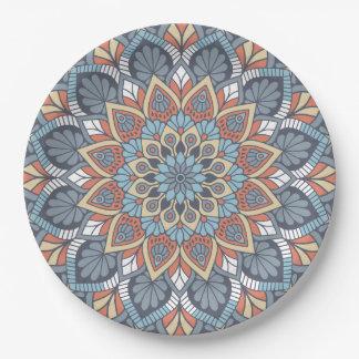 Floral Mandala Paper Plate