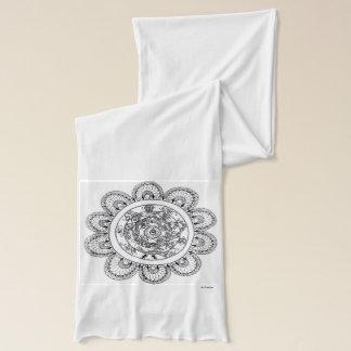 Floral mandala patterns scarf