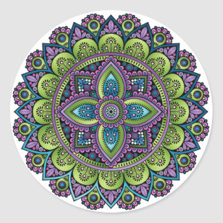 Floral Mandala Round Sticker