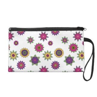 Floral Mandala Wristlet Bag