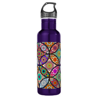 Floral mandalas creative circles art pattern 710 ml water bottle