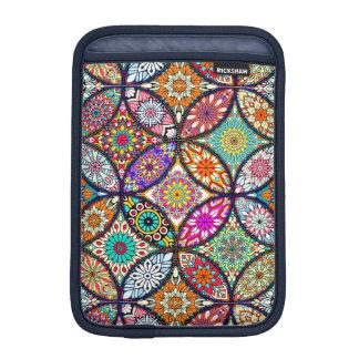 Floral mandalas creative circles art pattern iPad mini sleeve