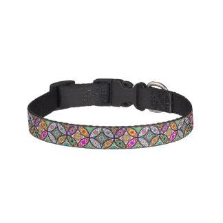Floral mandalas creative circles art pattern pet collar