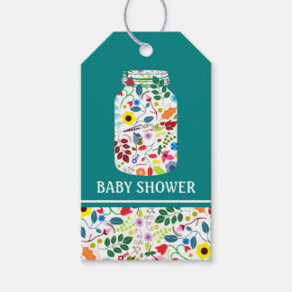 Floral Mason Jar Baby Shower Gift Tags