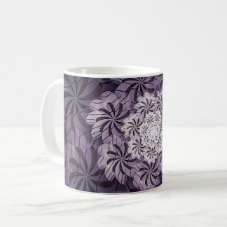 Floral Mauve Purple White Abstract Art Coffee Mug