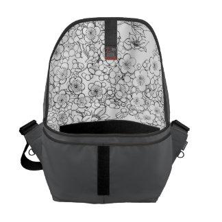 floral Medium Messenger Bag Inside Print