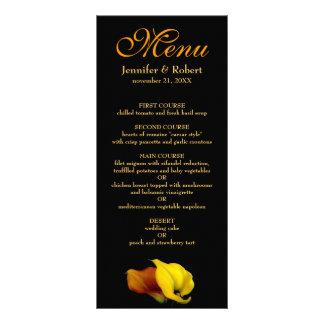 Floral Menu Card (Calla Lily) 10 Cm X 23 Cm Rack Card