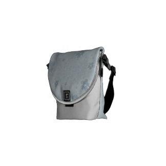 Floral Messenger Bag - Blue