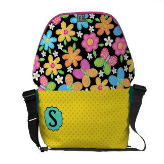 Floral Messenger Bag - SRF