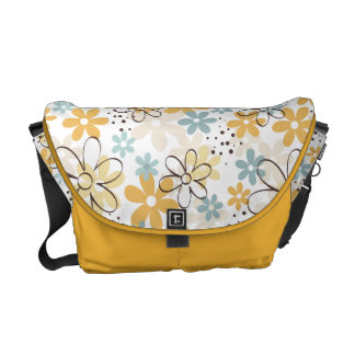 Floral messenger bag with pretty Yellow flowers