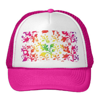 Floral mix hat