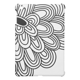 - Floral Mod Black & White Flower iPad Mini Cases