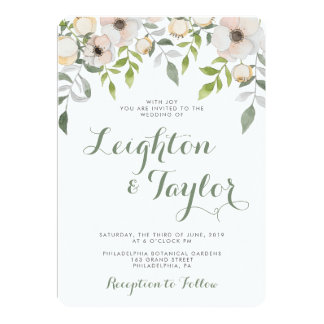 Floral Modern Wedding Invitation