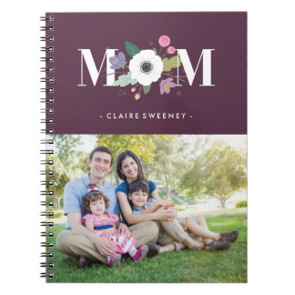 Floral Mom Journal - Plum