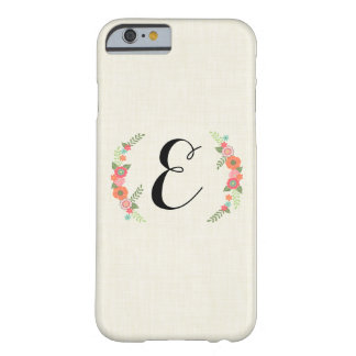 Floral Monogram Barely There iPhone 6 Case