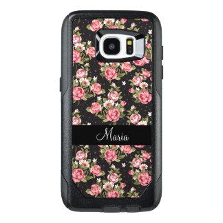 Floral Monogram Ladies OtterBox Samsung Galaxy S7 Edge Case