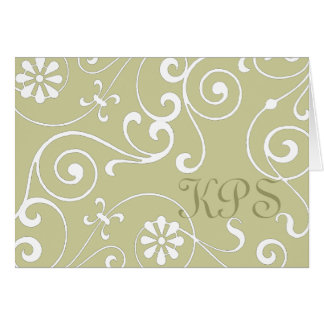 Floral Monogram (light) Card