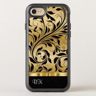 Floral Monogram Luxury Gold Color OtterBox Symmetry iPhone 8/7 Case