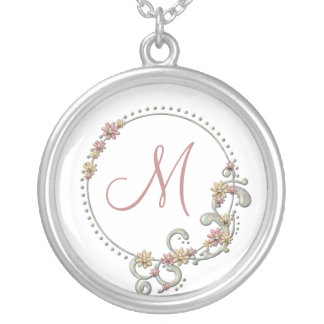 Floral Monogram Necklace
