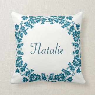 floral monogram pattern outdoor cushion