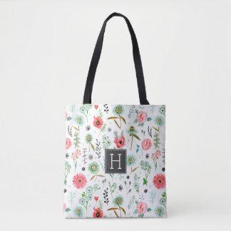 Floral Monogram Pattern | Tote bag
