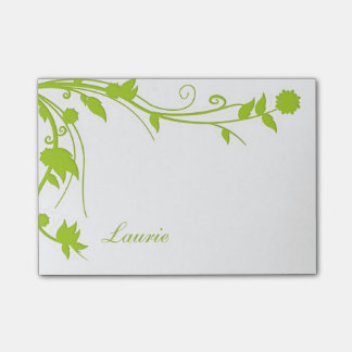 Floral Monogram Post Notes Sticky Note