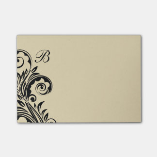 Floral Monogram Post Notes Post-It Notes